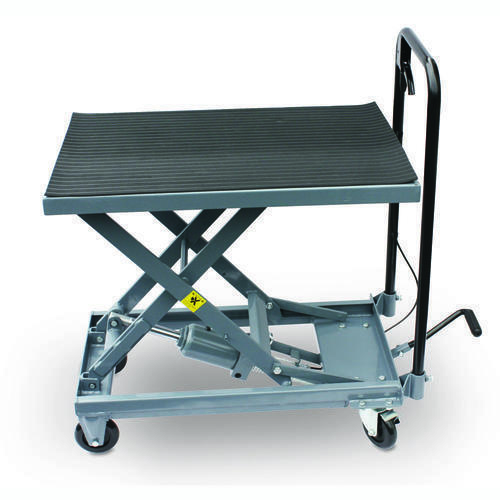 500 lb Hydraulic Table Cart Foot Pedal Lift Stand Heavy Duty Garage Shop Tool