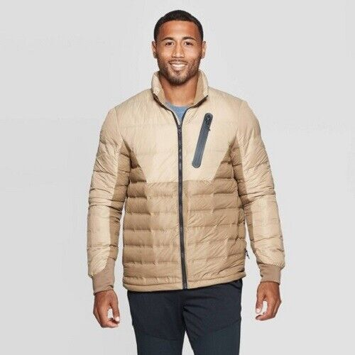 C9 Champion Mens' Lightweight Puffer Jacket-Midway Brown L (NWT) Clothing, Shoes & Accessories