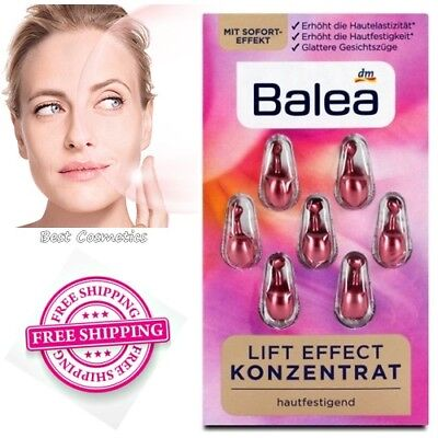Balea Lift Effect Anti-Wrinkle Face Concentrate Serum Set 7 Capsules New  for sale  Shipping to United States