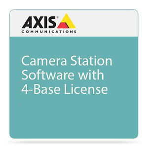 Axis IP Camera Station Software with 4 Basic IP Camera Licenses