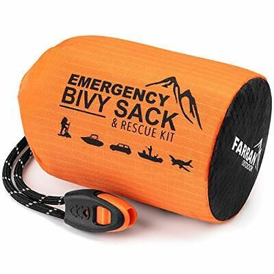 Farran Outdoor Emergency Sleeping Bag Bivy Sack Rescue Kit Compact Home Survival Bivy Sack Kit