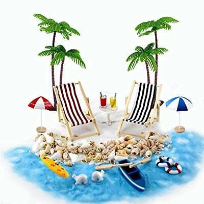 Gallop Chic Strand-Mikrolandschaft Miniliegestuhl Strandkorb Sonnenschirm Kleine
