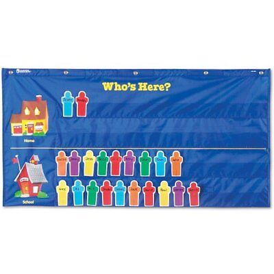 NEW Learning Resources Attendance Pocket Chart Blue FREE SHIPPING