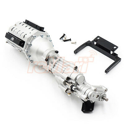 Xtra Speed Aluminum CNC & Alloy V8 Engine 2 Speed For SCX10 II #XS-SCX230090SV