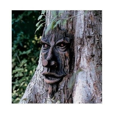 Tree Pan Sculpture Spirit Of The Woods Magical Outdoor Old Man Faces Yard Decor