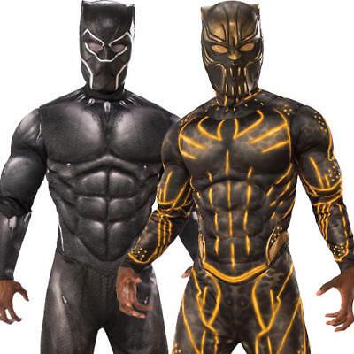 Villian Costume (Black Panther Mens Fancy Dress Killmonger Superhero Villian Halloween Costumes)