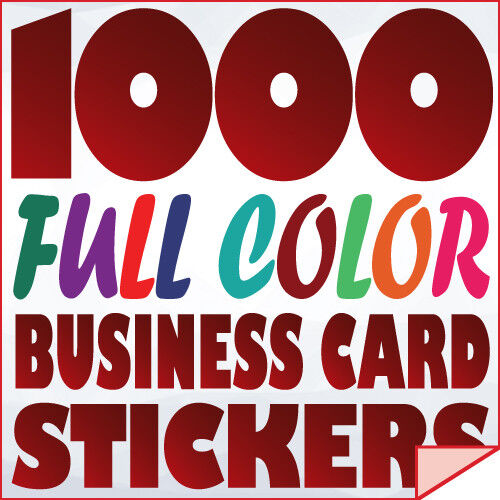1000 Full Color Custom BUSINESS CARD STICKERS Label printing with UV-Gloss