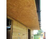 OSB 3 wood timber ply 8x4ft sheet material 11mm 18mm TGV shiplap