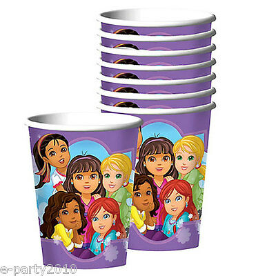 DORA THE EXPLORER AND FRIENDS 9oz PAPER CUPS (8) ~ Birthday Party Supplies Drink Dora 9 Oz Cups