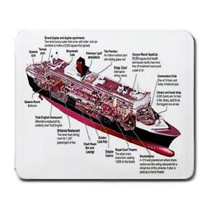 QUEEN MARY 2 CUTAWAY LARGE MOUSEPAD **SUPER ITEM**