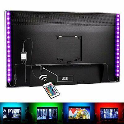 5V LED Strip Lights TV Back 1m 2m Light RGB 24keys Remote Control Flexible Tape