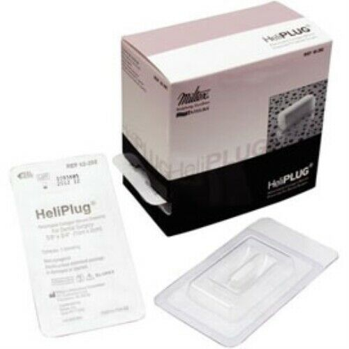 "MILTEX HELIPLUG 3/8"" X 3/4"" ABSORBABLE COLLAGEN WOUND DRESSING 10/BX"