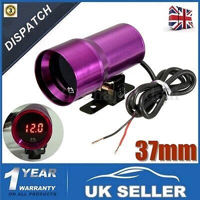 37mm Univesal Car Boat Voltmeter Volt Voltage Gauge Meter Digital Display Light