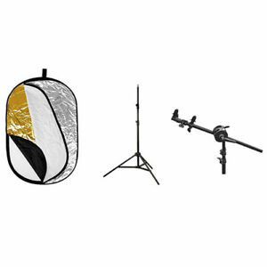Godox 80x120cm 5-in-1 Reflect Kit with Light Stand