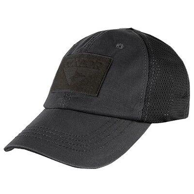 Condor TCM Black Tactical Operator Cap w  Hook   Loop Strap   Panel  Baseball Hat 48dae1901340
