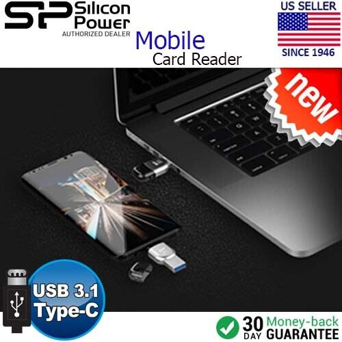 Silicon Power MOBILE Dual USB 3.1 Type-C USB Type-A OTG Card Reader For Android