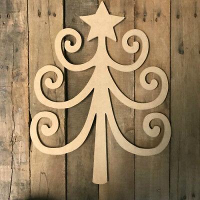 Wooden Tree Shape, DIY, Christmas Tree Shape, Wall Art Shape, Paintable Craft ()