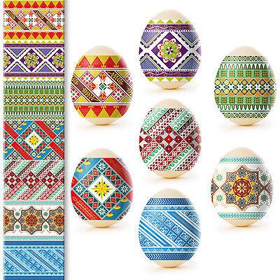 Heat Shrink Sleeve Decoration Easter Egg Wraps Pysanka Traditional Ornament (Easter Egg Decoration)