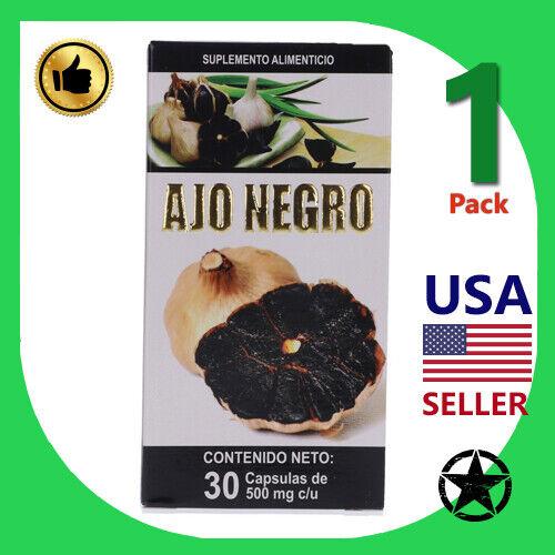 1 Can Ajo Negro Suplemento Alimenticio 30 Capsules