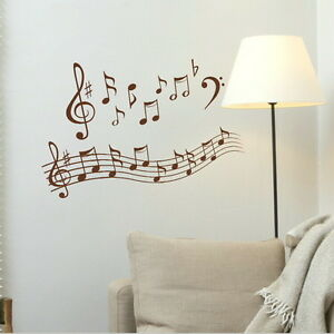 Notes de musique jouer ecrire murales decor autocollant for Pochoir mural geant