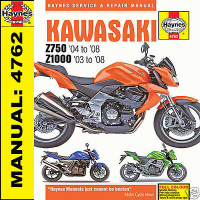 Kawasaki Z750 ZR750 Z1000 ZR1000 2003-2008 Haynes Manual 4762 NEW