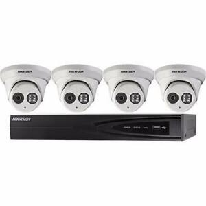 Weekly Promo!  Hikvision  I7604N1TP Performance Series 4-Channel 5MP NVR with 1TB HDD and 4 4MP Outdoor Turret Cameras K