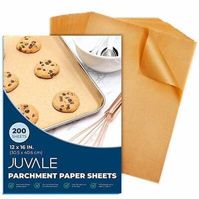 Juvale Precut Parchment Paper for Baking (Pack of 200 Sheets) - Non-stick,