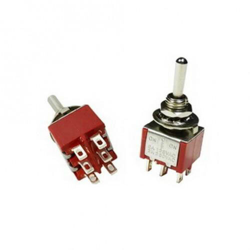 (1PC) DPDT Momentary Mini Toggle Switch (ON)-OFF-(ON) Solder Lug... USA Seller!