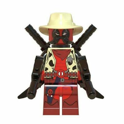 Sheriff Deadpool Marvel Superhero Mini Action Figure Toy X-Man Series Lego Moc