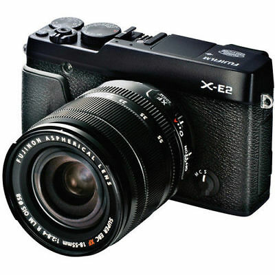 Fujifilm X-E2 16.3MP Digital Camera - Black + XF R LM OIS 18-55mm Lens