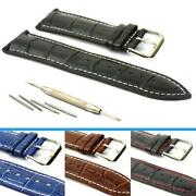 Mens Watch Leather Strap 22mm