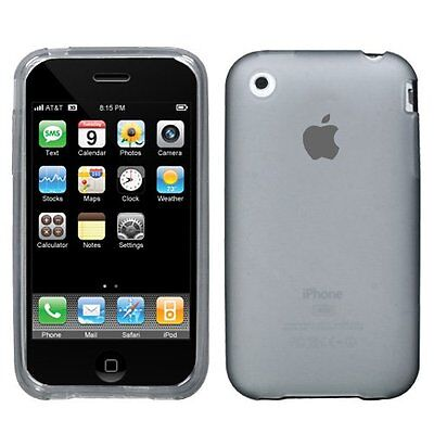 Iphone 3g Hard Snap (For Apple iPhone 3G 3GS Snap On Rubberized Hard Plastic Case Cover Smoke)