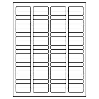 8000 Return Address Labels 12 X 1 34 80sheet Same Size As 5167