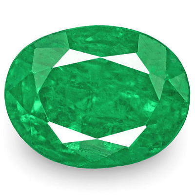 ZAMBIA Emerald 3.90 Cts Natural Untreated Fiery Rich Green Oval