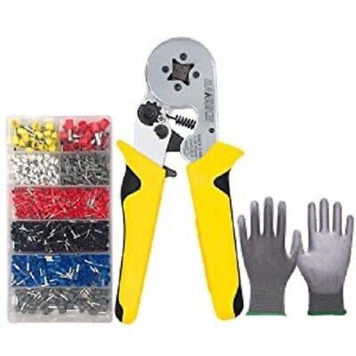 Crimper Plier Kit Set Self-adjustable Crimping Tools W Terminals Ferrules