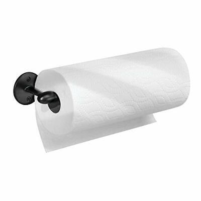 iDesign Kitchen Roll Holder Wall Mounted, Practical Metal Paper Towel Holder for