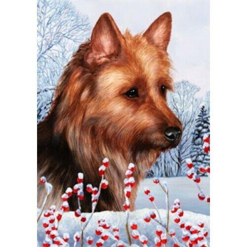 Winter House Flag - Australian Terrier 15203