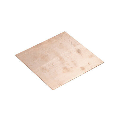 99.9 Pure Copper Cu Metal Sheet Plate 100x100x0.8mm Pn