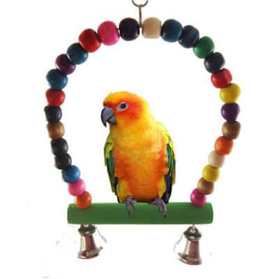 Arch Top Bird Swing Bird Toy Bird Supplies Parrot Stand Perch With Bell US