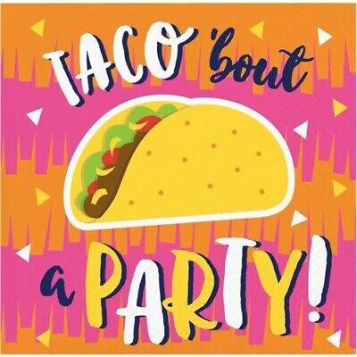 Fiesta Fun Taco Party Beverage Napkins 16 Pack Cinco De Mayo Decorations Fun Beverage Napkins