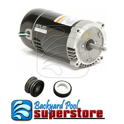 Emerson Pump Motor 1hp C Face Eust1102 Ust1102 W Ps 200