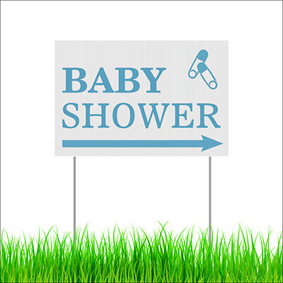Baby Shower Yard Lawn Sign Outdoor Garden Party Decor Sign With Metal Stakes - Baby Shower Yard Sign