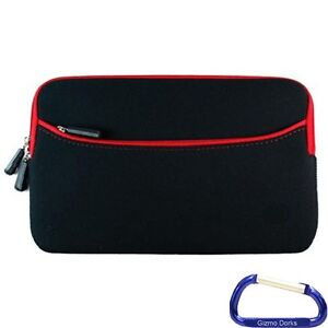 Neoprene Zipper Sleeve Case Cover Pouch (Red) for the Amazon Kindle Touch 3G