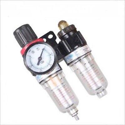 Dual Mini Size Air Pressure Control Compressor Filter Lubricator Moisture Trap