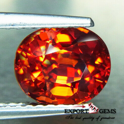 UNHEATED 2.72CT NATURAL OVAL ORANGE SAPESSATITE GARNET