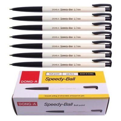 Dong-A Speedy Ball Point Pen Dozen Box (Pack of 24) (Black)