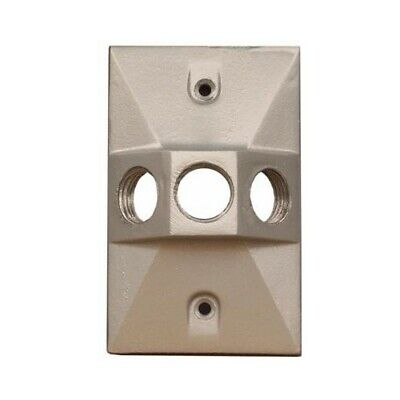 37330 Lamphdr Cover 3-12 Hole Gray