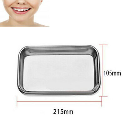 1pc New Dental Stainless Steel Medical Surgical Tray Instrument Autoclavable