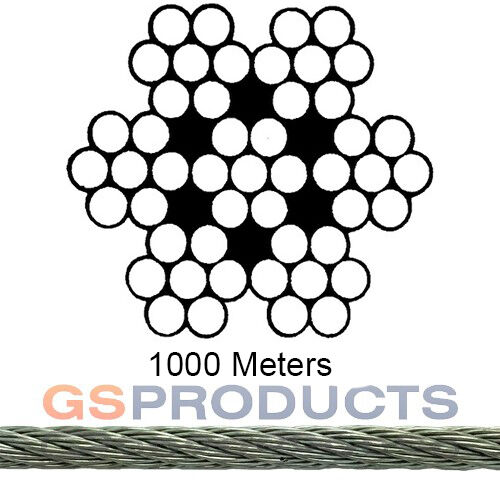 2mm Steel Wire Rope 7x7 Galvanised 1000 Metre Reel Fence Wire | eBay