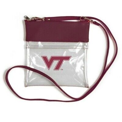 VIRGINIA TECH HOKIES CLEAR GAME DAY CROSSBODY BAG STADIUM APPROVED VEGAN LEATHER